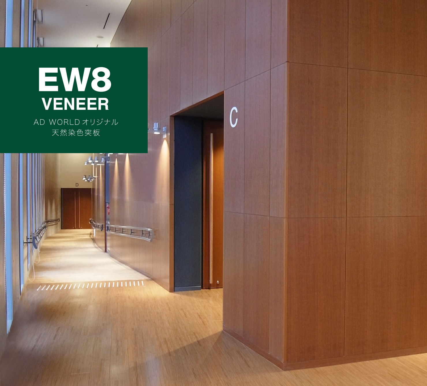EW8 VENEER AD WORLD オリジナル 天然染色突板
