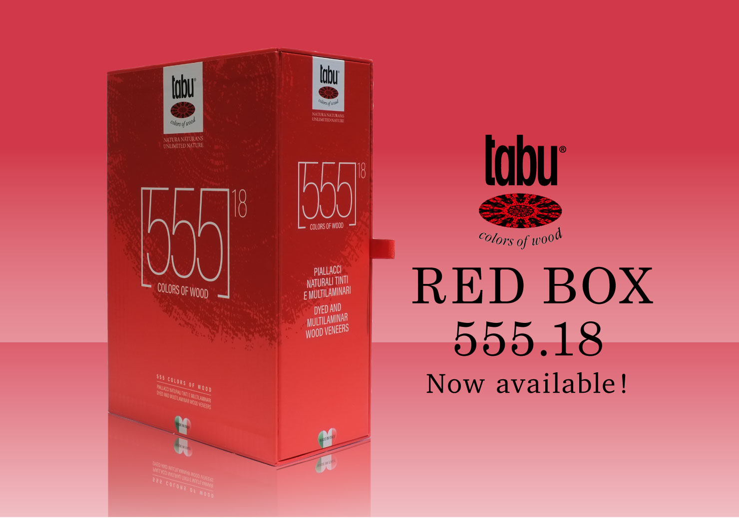 tabu RED BOX 555.18 Now available!