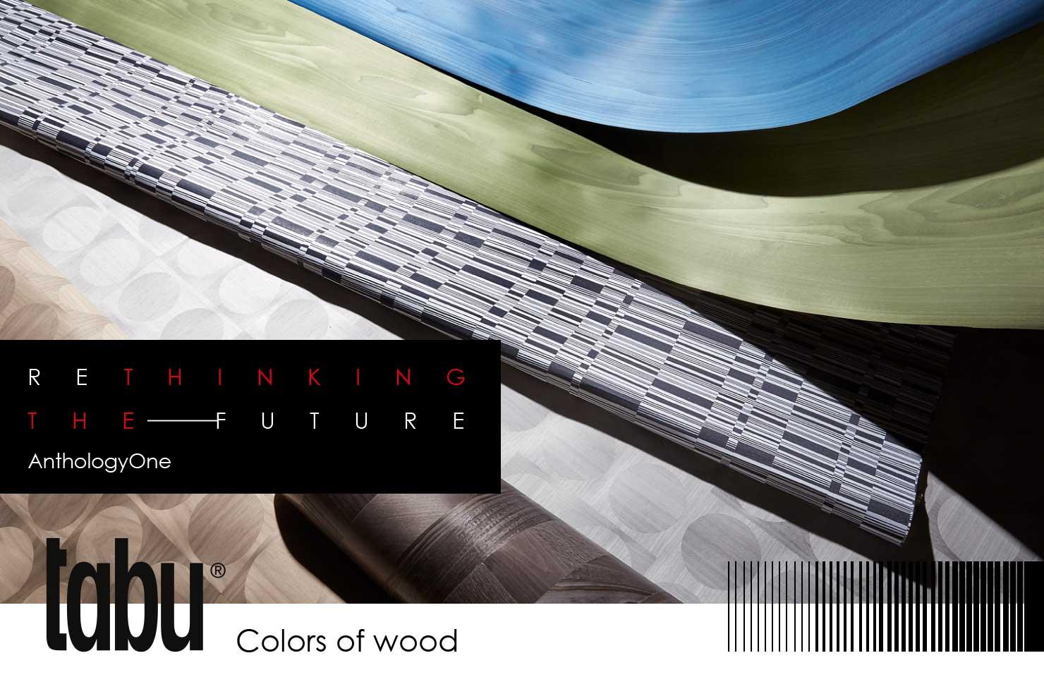 ReThinking the Future Anthology One tabu colors of wood