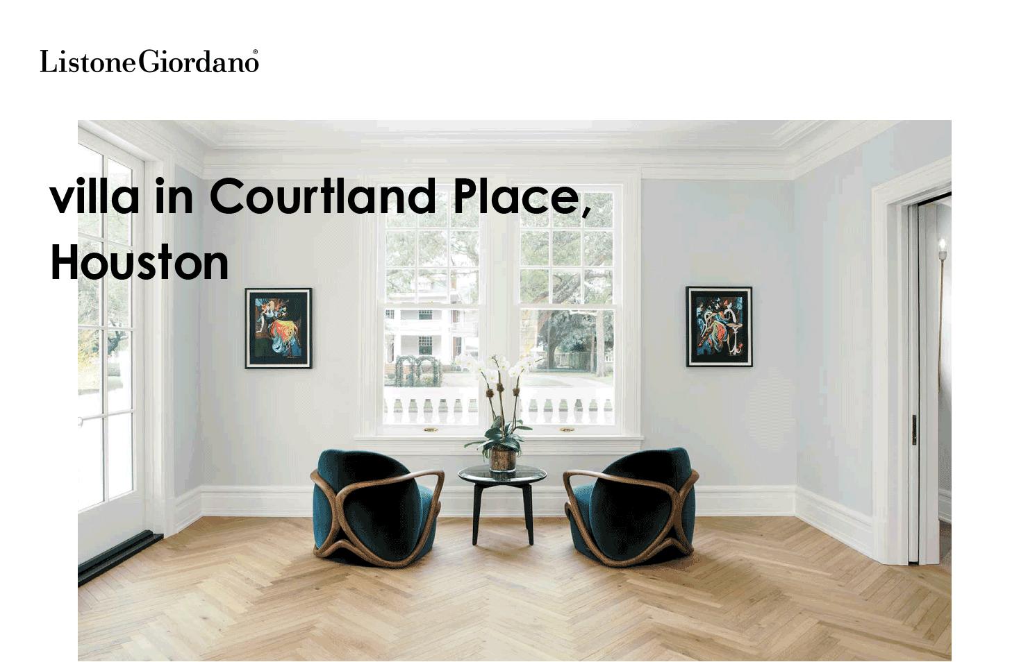 Listone Giordano villa in Courtland Place, Houston